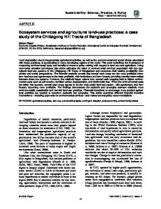 Ecosystem services and agricultural land-use ...