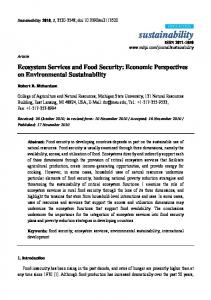 Ecosystem Services and Food Security - Portland State University