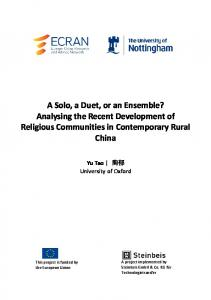 ECRAN Analysing the Recent Development of ... - Semantic Scholar