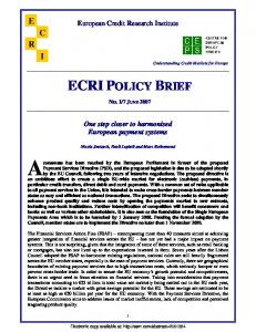 ecri policy brief - SSRN papers