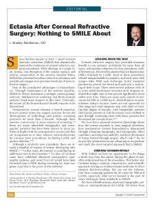 Ectasia After Corneal Refractive Surgery: Nothing ... - Semantic Scholar