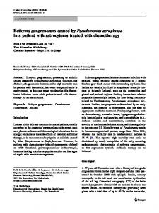 Ecthyma gangrenosum caused by Pseudomonas ... - Springer Link