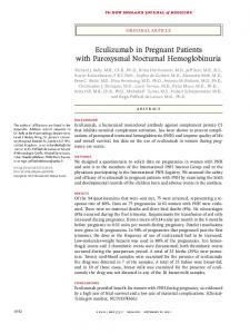Eculizumab in Pregnant Patients with Paroxysmal Nocturnal ...