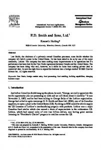 ED Smith and Sons, Ltd. - AgEcon Search