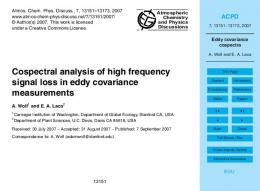 Eddy covariance cospectra - EaseChem.com