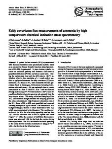 Eddy covariance flux measurements of ammonia ... - Atmos. Meas. Tech