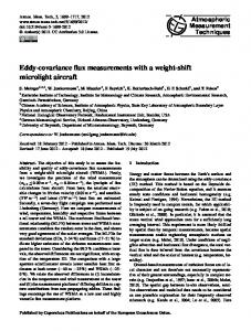 Eddy-covariance flux measurements with a ... - Atmos. Meas. Tech