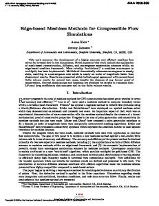 Edge-Based Meshless Methods for Compressible Flow Simulations