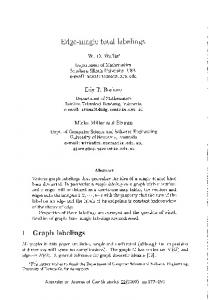 Edge-magic total labelings - The Australasian Journal of Combinatorics