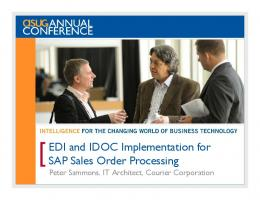 EDI and IDOC Implementation for SAP Sales Order Processing