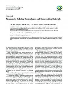 Editorial Advances in Building Technologies and ... - Hindawi