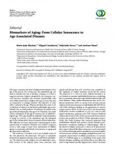 Editorial Biomarkers of Aging: From Cellular Senescence to ... - Hindawi