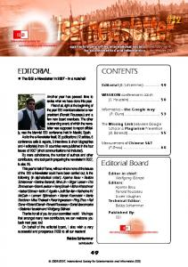 Editorial Board CONTENTS EDITORIAL - International Society for ...