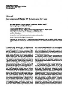 Editorial Convergence of Digital TV Systems and