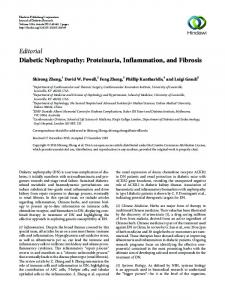 Editorial Diabetic Nephropathy: Proteinuria ... - Monash University