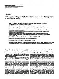 Editorial Efficacy and Safety of Medicinal Plants ... - Semantic Scholar