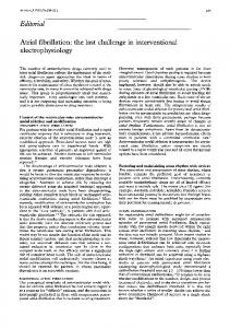 Editorial electrophysiology - Europe PMC