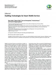 Editorial Enabling Technologies for Smart Mobile Services