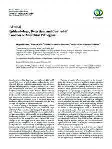 Editorial Epidemiology, Detection, and Control of Foodborne ... - Hindawi