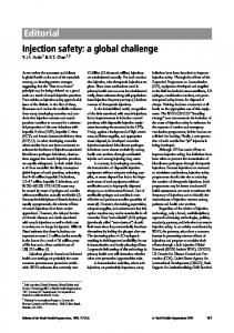Editorial Injection safety: a global challenge - World Health Organization