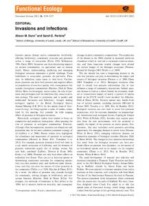 Editorial: Invasions and infections - BES journal
