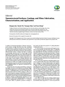 Editorial Nanostructured Surfaces, Coatings, and Films - Downloads ...