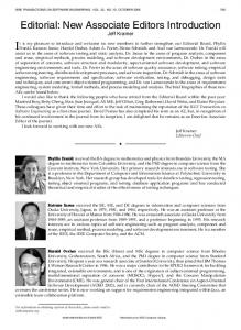 Editorial: New Associate Editors Introduction - IEEE Xplore