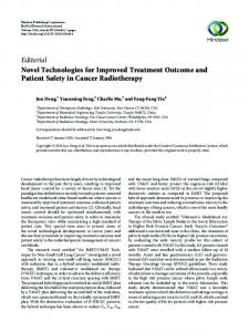 Editorial Novel Technologies for Improved Treatment ... - Hindawi