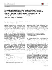 Editorial on the European Society of Gastrointestinal ... - Springer Link