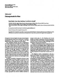 Editorial Osteoporosis in Men - BioMedSearch