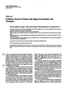 Editorial Oxidative Stress in Disease and Aging ...