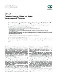 Editorial Oxidative Stress in Disease and Aging ... - Hindawi