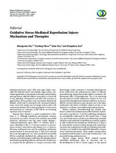 Editorial Oxidative Stress-Mediated Reperfusion ...