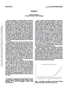 Editorial - Psychological Bulletin - 2015 - American Psychological ...