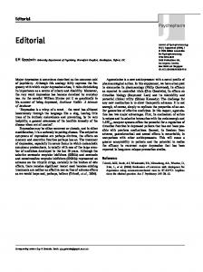 Editorial - SAGE Journals - Sage Publications