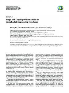 Editorial Shape and Topology Optimization for Complicated ... - Hindawi