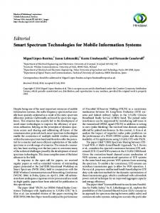 Editorial Smart Spectrum Technologies for Mobile Information Systems