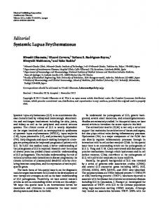 Editorial Systemic Lupus Erythematosus