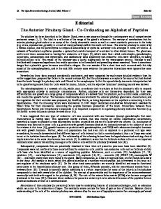 Editorial The Anterior Pituitary Gland - Bentham Open