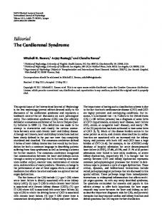 Editorial The Cardiorenal Syndrome - ScienceOpen