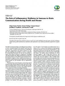 Editorial The Role of Inflammatory Mediators in ... - ePrints Soton