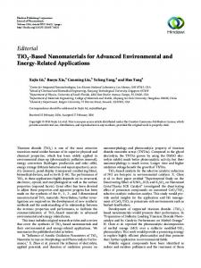 Editorial TiO -Based Nanomaterials for Advanced ... - Hindawi