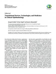 Editorial Translational Devices, Technologies, and ... - Hindawi
