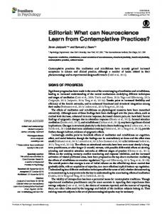 Editorial: What can Neuroscience Learn from ... - Semantic Scholar