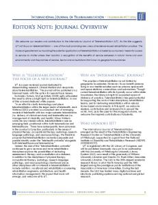 Editor's Note: Journal Overview - International Journal of ...
