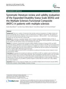 (EDSS) and the Multiple Sclerosis F - BioMedSearch
