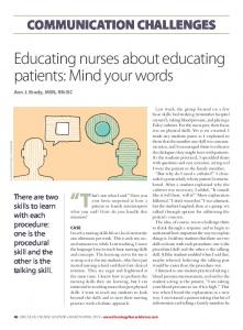 educating nurses about educating patients: Mind your