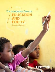 EduCaTIon and EquITy - Unicef