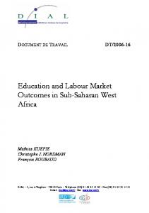 Education and Labour Market Outcomes in Sub-Saharan ... - DIAL / IRD