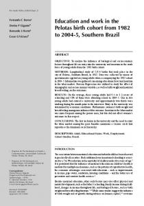 Education and work in the Pelotas birth cohort from